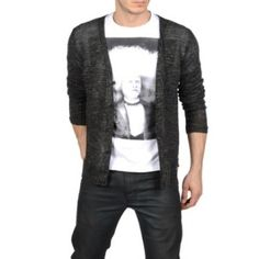 Clothes For Guys According To Their Body Types  I like this outfit. I want it. Well mostly the cardigan. Don't know how I feel about the shirt