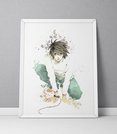 Death Note print L Lawliet print Death Note by ArtsyPrintStudio