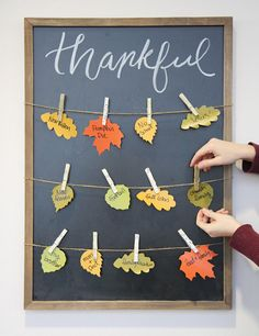 This Thankfulness board is a unique and stylish way to encourage your children to practice gratitude this holiday season. It makes a great activity to… – Decoration Thanksgiving Crafts For Kids, Thanksgiving Decorations, Holiday Crafts, Fall Festival Decorations, Fall Decorations, Sunday School Decorations, Fall Arts And Crafts, Christian Crafts, Practice Gratitude