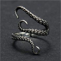 Krake Ring Sterlingsilber
