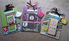 DIY Clipboards for everything!  I want to make some of these.  I really like the Teacher Gift idea.