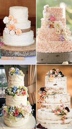30 Rustic Wedding Cakes For The Perfect Country Reception