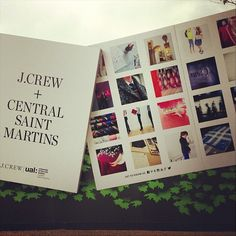 "J. Crew pops up at Central Saint Martins! Speaking to Vogue, J. Crew creative director Jenna Lyons said: ""I wanted people to have a personal connection to us, I want people to have a point of view, that's what Central Saint Martins cultivates. If you never expand your world and push the boundaries of what you can do, it's hard to carve your piece."""
