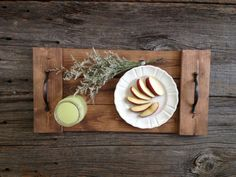 Rustic Wood Tray Wooden Tray Pallet Tray by DunnRusticDesigns