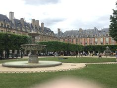 Place de Voges. Beautiful little park surrounded by some of the most expensive real estate in Paris.  Cut through the gorgeous Hotel de Sully through a special old door to get into the square.  We were even treated to the haunting music of a street harpist.  Only in this neighborhood!