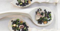 Getrüffelte Beluga-Linsen mit Schwarzwälder Schinken: Linsen halten den Blutzuckerspiegel im Lot. Dadurch vermeiden Sie Heißhungerattacken.