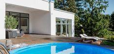 Billeder af Funkis huse - Se de mange muligheder i Funkis husene Villa, Interior Design, Places, Outdoor Decor, Inspiration, Home Decor, Future, Garden, Nest Design