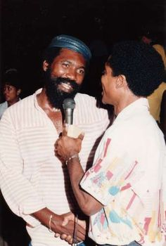 Steelpan musician Len Boogsie Sharpe. 1987. Trinidad & Tobago. Peter Krog.