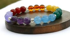 Energy Shop Colors of the 7 Chakras Bracelet by energyshop on Etsy