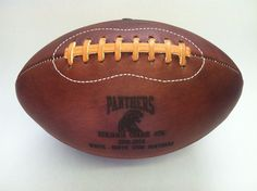 Custom Leather Hand Made Football  Panthers, Made in America