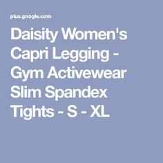 Daisity Women's Capri Legging - Gym Activewear Slim Spandex Tights - S - XL
