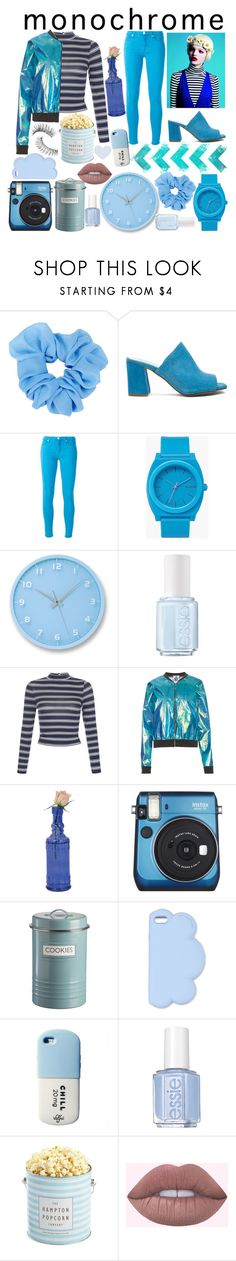"""""""Blue Bell"""" by miss-orchid ❤ liked on Polyvore featuring Été Swim, Maryam Nassir Zadeh, 7 For All Mankind, Nixon, Lemnos, Essie, New Look, The Ragged Priest, Fujifilm and Typhoon"""