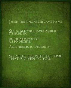 Frodo Baggins and Gandalf