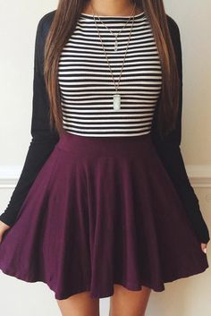 49 modest but classy skirt outfits ideas suitable for fall Outfits 2016, Mode Outfits, Spring Outfits, Fall School Outfits, College Outfits, Winter Outfits With Skirts, School Picture Outfits, School Skirt Outfits, Cute Outfits For Fall