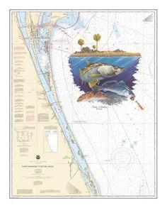 Steve Whitlock Nautical Chart Art - Indian River Slam