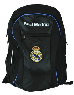 Icon Real Madrid FC Soccer Back Pack. Oversized soccer back pack: bag Dimensions: 17 in x 21 in x 7 in. Officially licensed: manufactured and licensed by the Icon sports group Inc. 100% official real Madrid merchandise. Front ball pocket: big enough to fit a size 5 ball with ease. Secure elastic cinch net pocket to hold the ball in place. Padded shoulder straps. Lot's of pockets and storage for all your accessories.