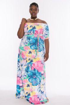 Christian OmeShun Floral Maxi Dress