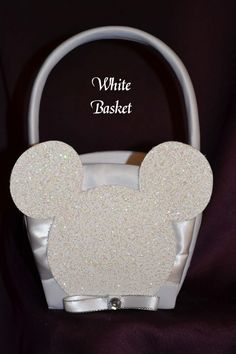 mickey mouse weddings | Mickey Mouse Flower Girl Basket | Fairy Tale Wedding & More, LLC.