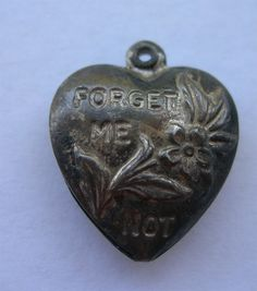 Heart Forget Me Not charm