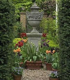 Fabulous Urn and Tulips.