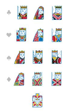 Playing cards characters by Samir Taiar, via Behance