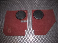84 85 Mazda RX7 OEM Door Panel Speaker Grille & Panel Set