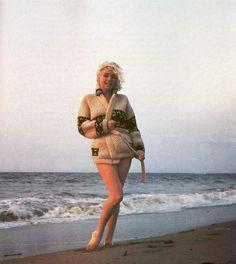 "7-13-1962 Santa Monica California. ""Mexican Jacket"" photo shoot by photographer George Barris of Marilyn Monroe. 025/3. Image 33-89"