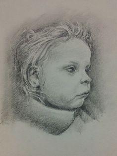 my daughter Naomi - quick sketchbook scribble Feb 2013