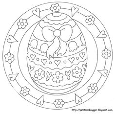 Easter Coloring Page Spring Coloring Pages, Easter Coloring Pages, Mandala Coloring Pages, Colouring Pages, Adult Coloring Pages, Coloring Books, Egg Crafts, Easter Crafts, Easter Coloring Pictures