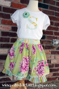 Love the skirt, I would of coarse change the fabric a little but very cute!  I think I might attempt to make some home made clothes maybe for Easter!