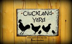 Cluckland Yard Hand Painted Decorative Chicken by Pipberrytree The Farm, Slate Shingles, Indoor Outdoor, Slate Signs, Vinyl, Farm Animals, Yard, Hand Painted, Antiques