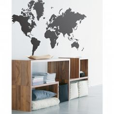 World Map Muursticker + coole kast!
