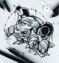 - How to Draw! Animal Drawings, Cute Drawings, Tattoo Drawings, Drawing Sketches, Cartoon Tattoos, Anime Tattoos, Body Art Tattoos, Pokemon Sketch, Anime Sketch