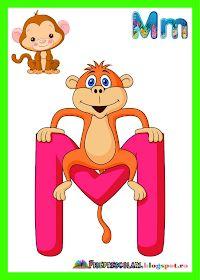 Fise de lucru - gradinita: Planse cu TOATE Literele pentru clasa English Classroom, Learning The Alphabet, Circle Time, School Lessons, Pre School, Classroom Decor, Preschool Activities, Homeschool, Crafts For Kids