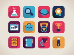 Flat icons by Maks Griboedov