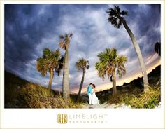 Beach wedding, Sunset, Bride and Groom, Palm trees, Wedding photography, Limelight Photography, www.stepintothelimelight.com