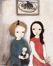 Deux Enfants - Tsuguharu Foujita
