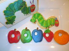 ONE Dozen Custom 'Very Hungry Caterpillar' Sugar Cookies