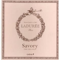Laduree Savoury cookbook. Beautifully wrapped up and in a felt covered book. Great - if slightly unpractical - recipes of a savoury nature.