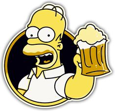 Pegatinas: Homer bebiendo cerveza Simpson Wallpaper Iphone, Emoji Wallpaper, Simpsons Party, The Simpsons, Cartoon Network Adventure Time, Adventure Time Anime, Rick And Morty Stickers, Disney Cards, Parks And Recreation