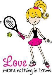 I love my tennis and all that goes with it!