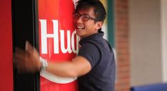 "Coke's ""hug me"" marketing campaign in Singapore. Watch the video... #coke #hugme #smartmarketing"