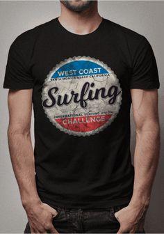 Mens Fashion Sweaters, Mens Fashion Wear, Polo T Shirts, Summer Shirts, Graphic Shirts, Tee Design, Casual Shirts, Surfing, Shirt Designs