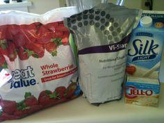 Strawberry cheesecake visalus shake!!  Yum!!!
