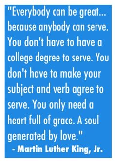 to have a servant's heart...