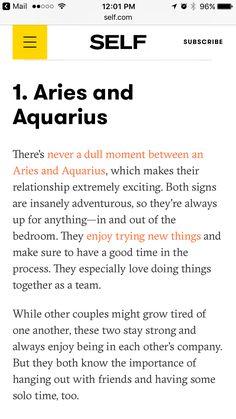 Aries woman and aquarius man break up