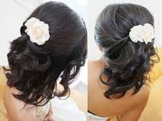Half up half down hairstyles for short hair for wedding party