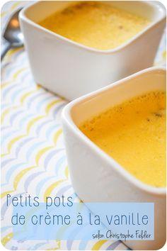 ..Petits pots de crème à la vanille et au rhum..