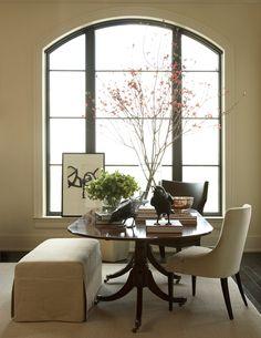 Fresh Round Table In Foyer
