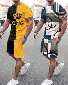 Imperial Crown, Casual Wear For Men, Short Suit, Polo T Shirts, Printed Shorts, Clothes For Sale, Mens Suits, Mens Fashion, Sports